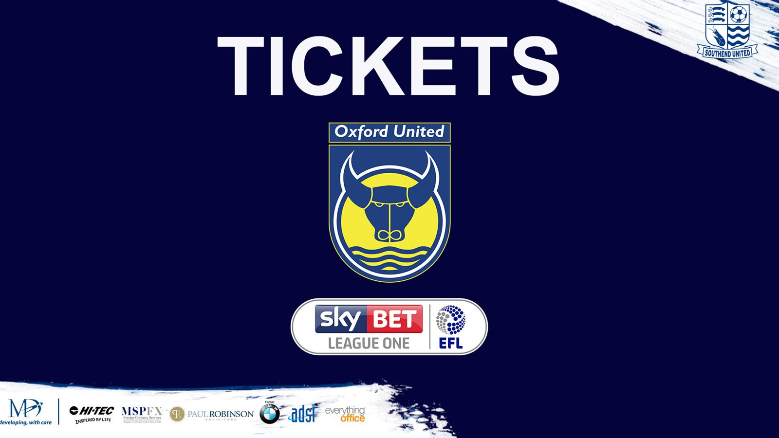 away tickets oxford off sale on monday 13th feb 5pm news southend united. Black Bedroom Furniture Sets. Home Design Ideas
