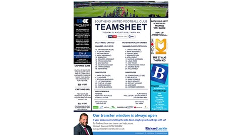 Teamsheet Advertising
