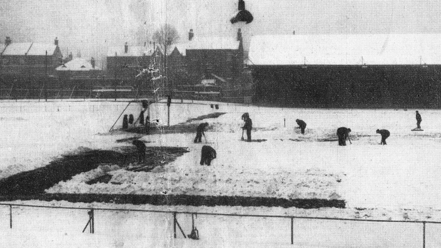 Clearing the pitch - 1938